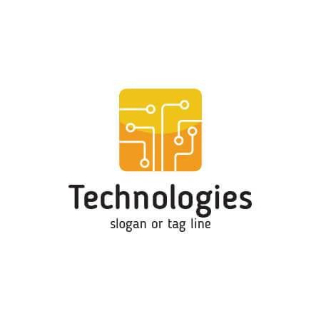 Technologies Logo Template. IT, mobile, network logo