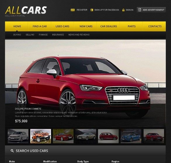 25+ Car Dealer Website Themes & Templates | Free & Premium Templates