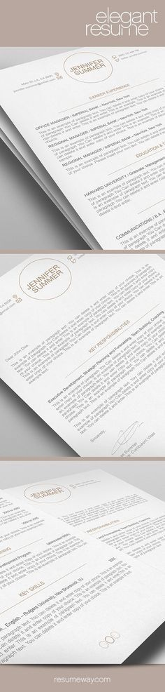 Professional Resume Template by CreativeLab on @creativemarket ...