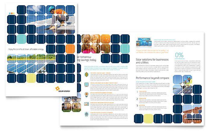 Solar Energy Brochure Template - Word & Publisher