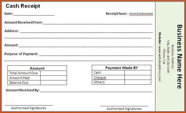 payment receipt template | sop example
