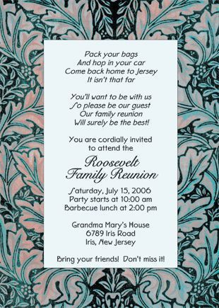 Family Reunion Invitations Wording | Family Reunion Invitation ...