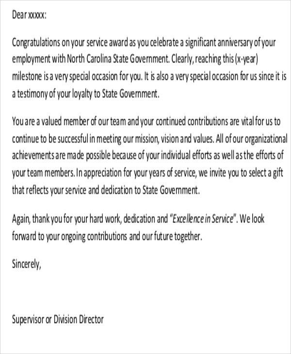 Sample Thank-You Letter to Employees - 7+ Examples in Word, PDF