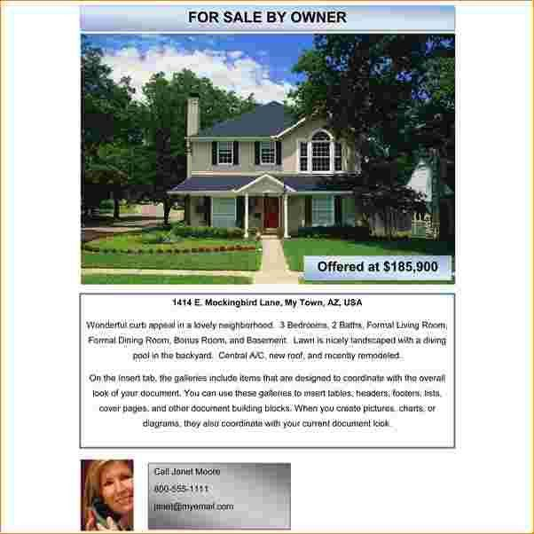 7+ house for sale flyer template | Outline Templates