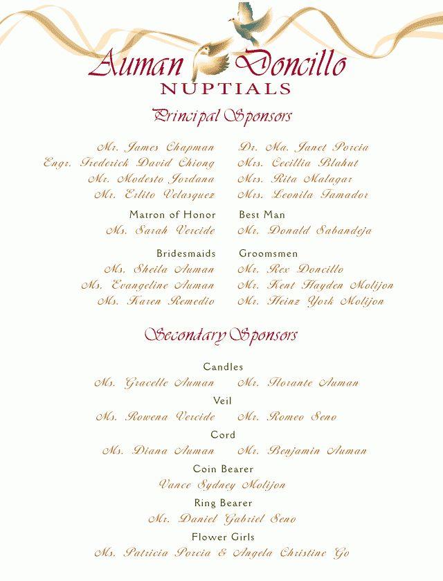 Wedding Invitation Format Entourage: Wedding Invitation List ...