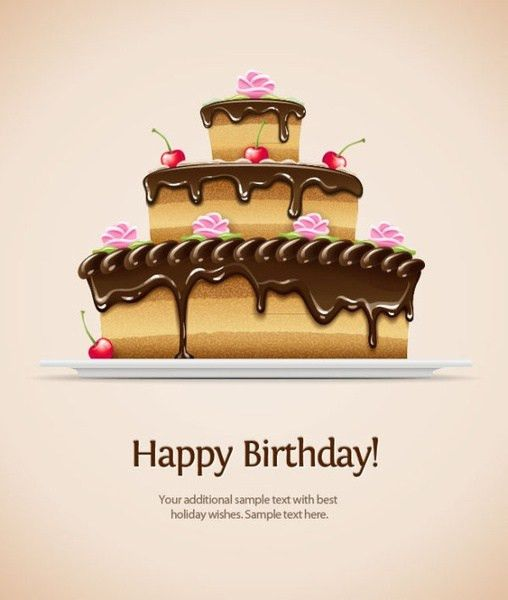 Rainbow birthday card template free vector download (22,915 Free ...