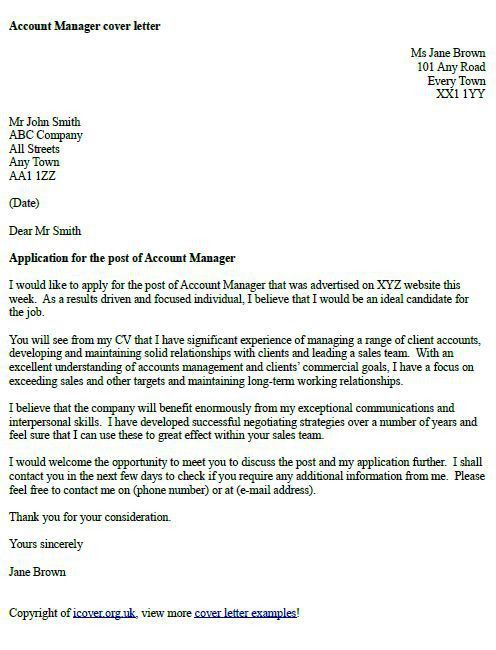 Cover Letters Examples Uk - uxhandy.com