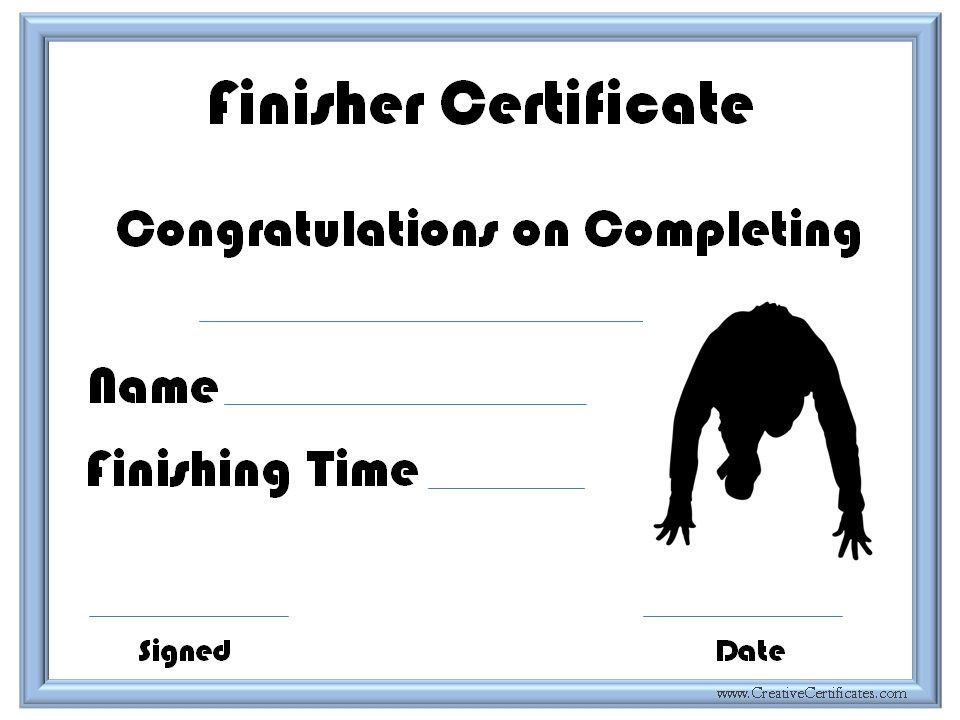 Running Certificate Templates Free & Customizable