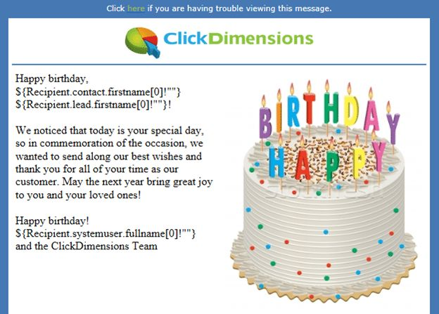 Creating automated and personalized birthday emails ...