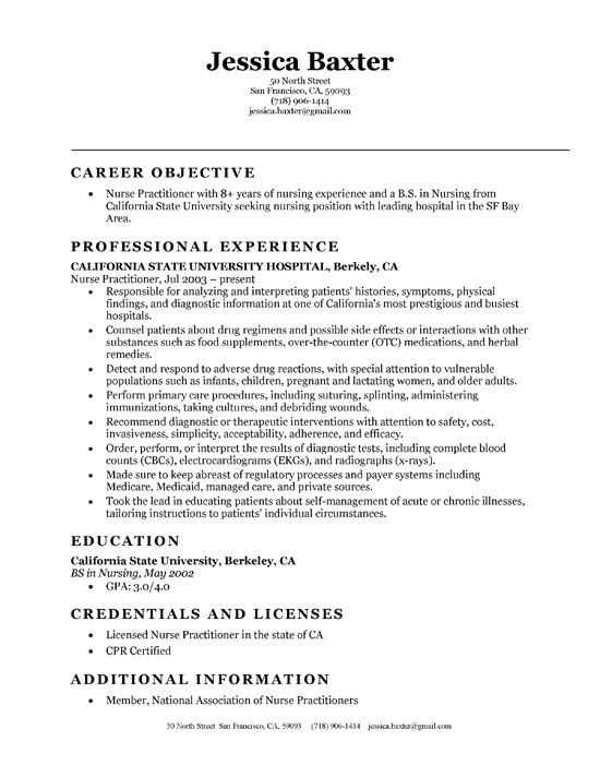 nurse practitioner resume template nurse practitioner resume