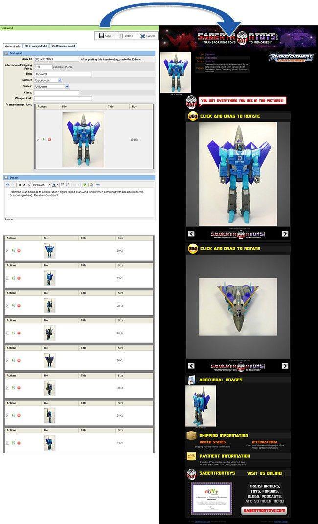 PHD Portfolio : Sabertron Toys Site And Ebay Templates : Marketing ...