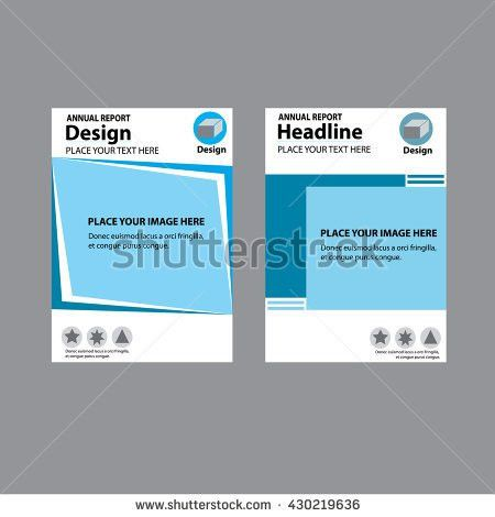 Annual Report Cover Design Report Template Stock Vector 430219651 ...