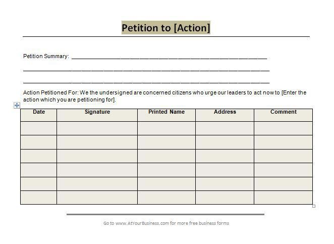 30 Free Petition Templates (How To Write Petition Guide) – Free ...