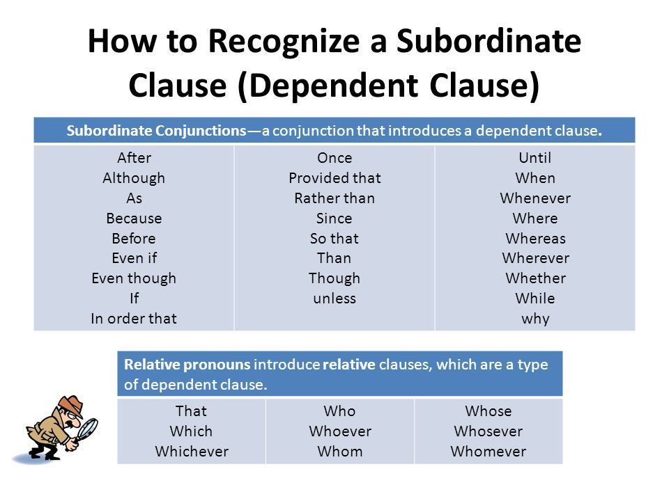 Main and Subordinate Clauses - ppt video online download