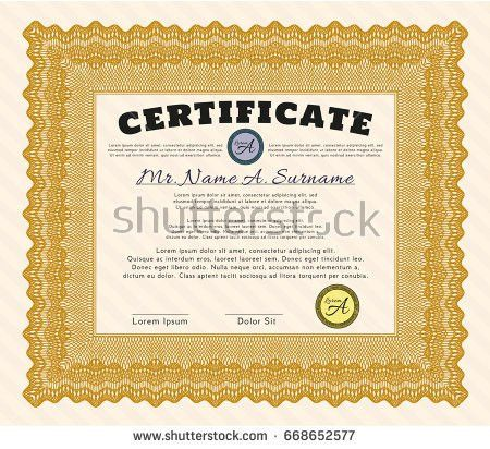 Certificate Template Thai Art Certificate Design Stock Vector ...