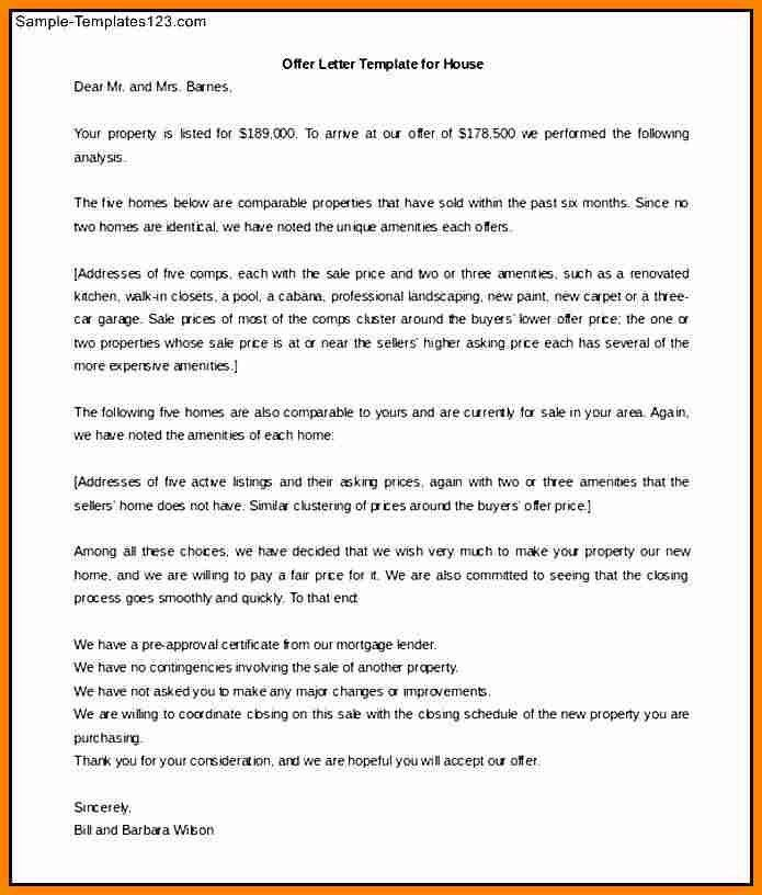 home offer letter template