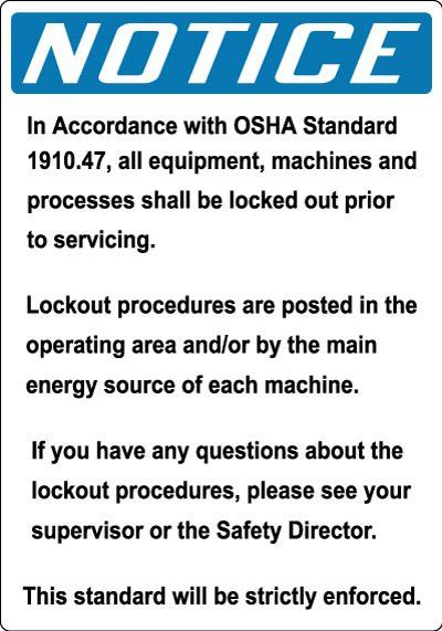 Electrical Safety I: Lockout Procedures | Stonehouse Signs