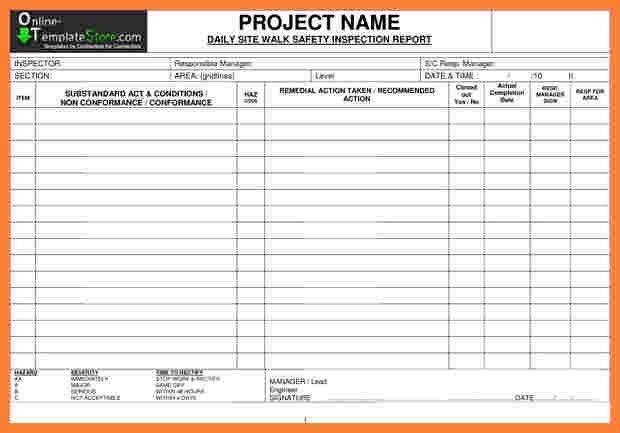 9+ construction inspection report template | Progress Report