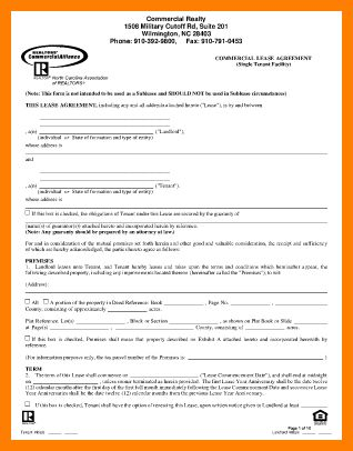 7+ free commercial lease agreement forms to print | artist resumes