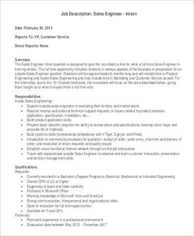 Office Intern Job Description - Resume Template Sample - Office Intern Job Description