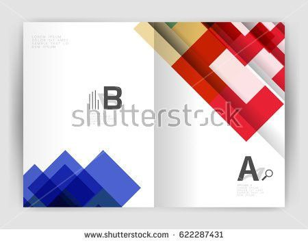 Square Design Corporate Business Flyer Annual Stock Vector ...