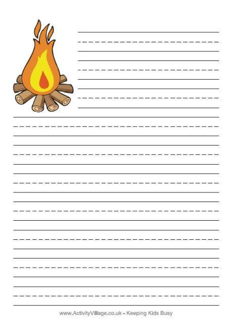 Bonfire Writing Paper