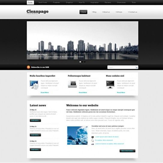 BlackWhite - HTML Template - Blog Style - Website Templates ...