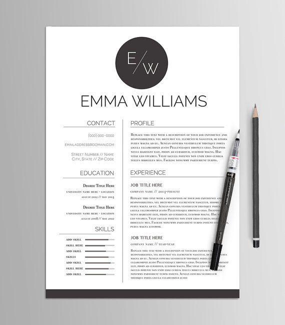 Résumé Template No. 4 // Creative CV & Cover Letter // Modern ...
