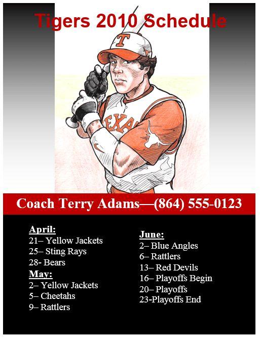 Baseball Flyer Template   Flyers and Brochures   Pinterest   Flyer ...