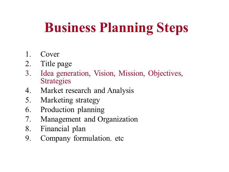 Business plan title