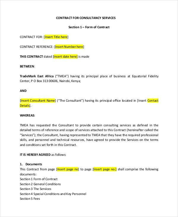 Contract Template - 13+ Free Word, PDF Document Downloads | Free ...