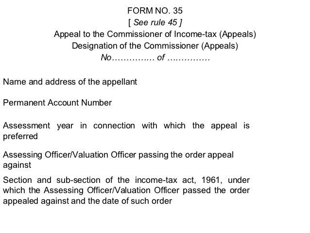 Appeal format.depttl. appeals