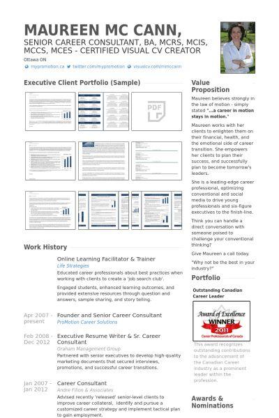 Trainer Resume samples - VisualCV resume samples database