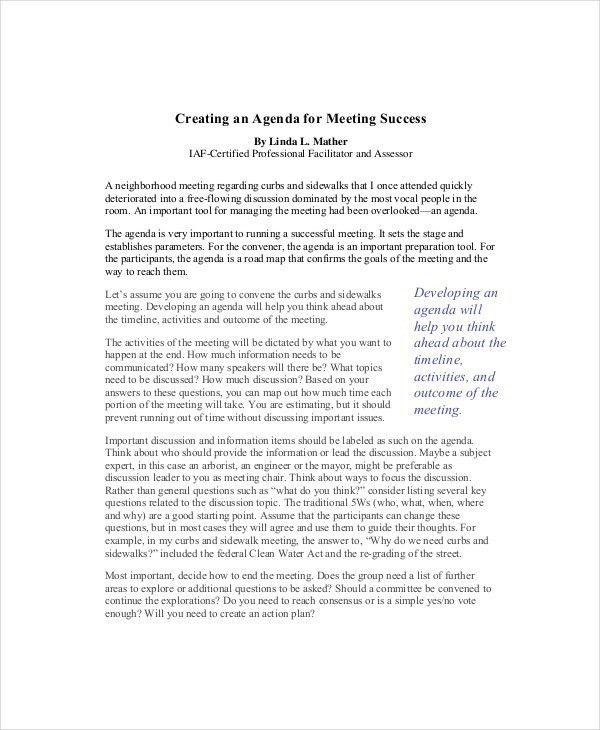 Creating An Agenda Template - formats.csat.co