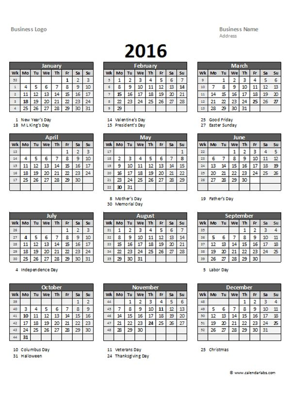 2016 Yearly Project Planning 01 - Free Printable Templates