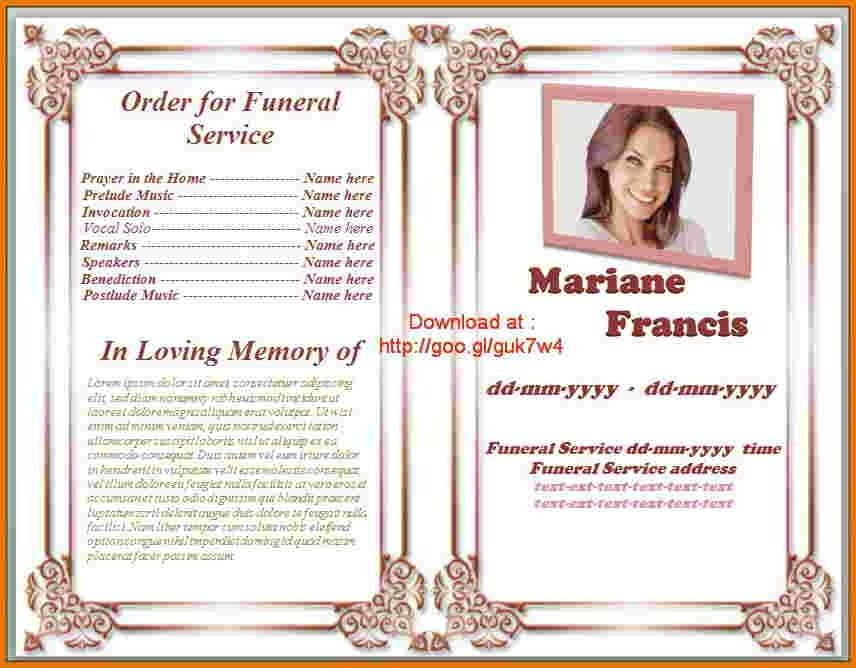 Free Printable Funeral Program Template - gameshacksfree