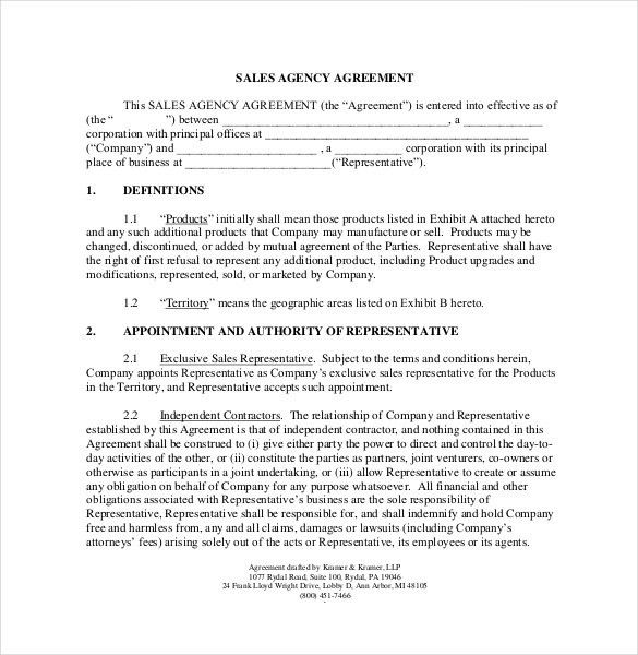 Sample Sales Agreement. Agreement For Purchase And Sale Of Real ...
