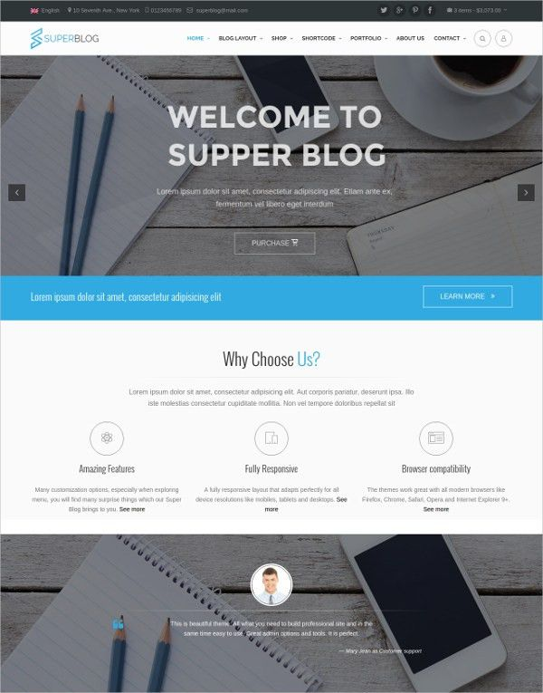 61+ New Blog Templates & Themes Released in May 2016 | Free ...