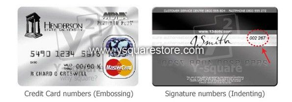 Y-square Store - Embosser & Indent Machine 2 in 1 for PVC Cards