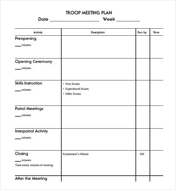 Sample Meeting Planning Template - 9+ Free Documents Download in ...