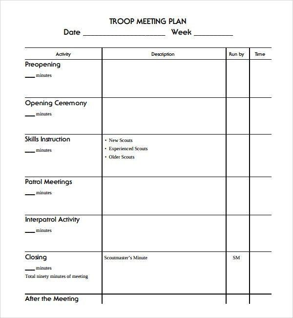 meetings template