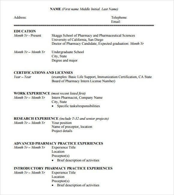 Sample Student CV Template - 9+ Download Free Documents in PDF, Word
