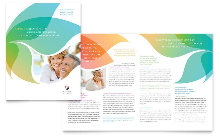 Marriage Counseling Brochure Template - Word & Publisher