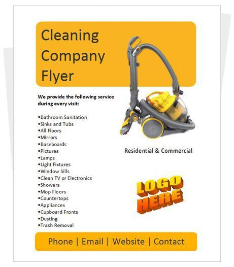 8 best cleaning flyers images on Pinterest | Flyers, Cleaning ...