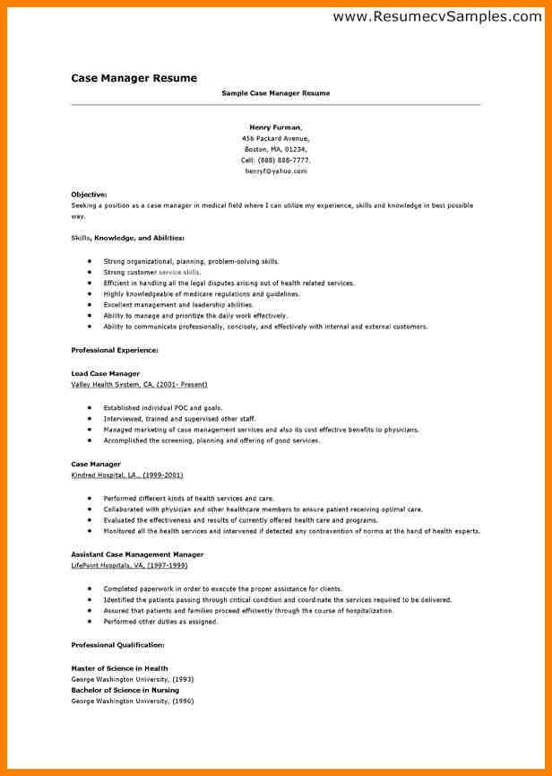 rn case manager resume printable large size. click here to ...