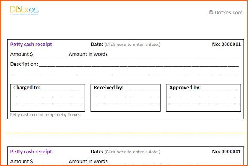 7+ petty cash receipt - Budget Template Letter