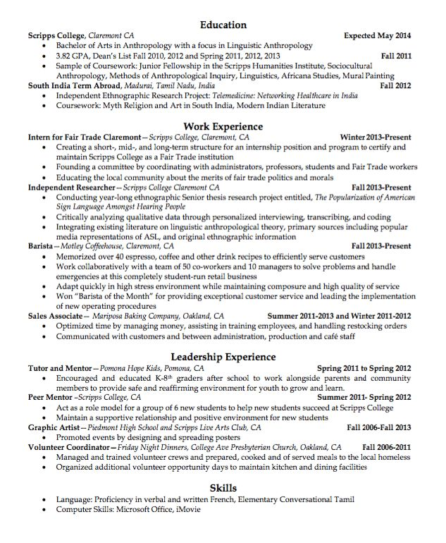 Sample Barista Resume - http://exampleresumecv.org/sample-barista ...