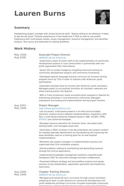project director resume samples visualcv resume samples database - Spanish Resume Template