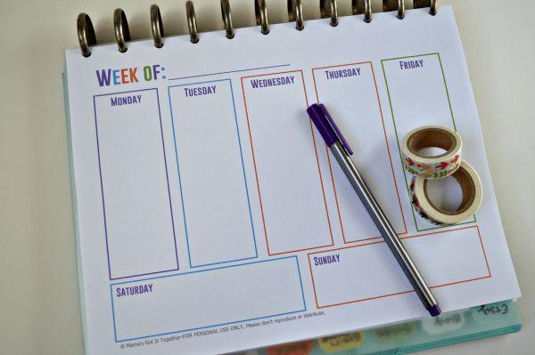 Free Printable Calendars for Your Filofax, Household Binder, Arc ...