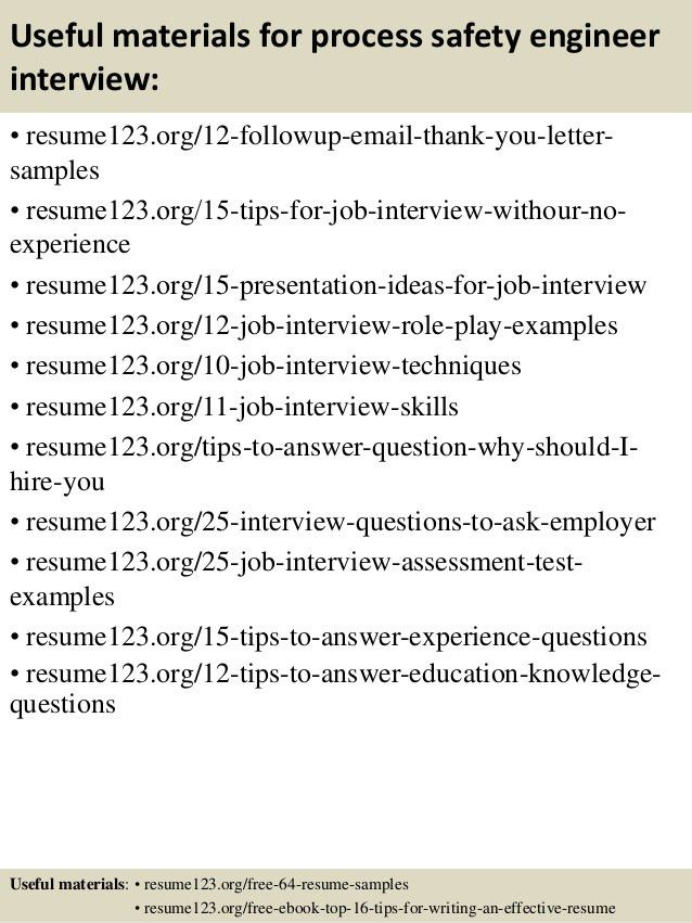 Download Process Safety Engineer Sample Resume ...